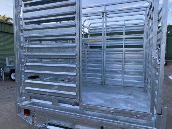 12 x 7 ft Stock Crate / Machinery Flat Deck Trailer